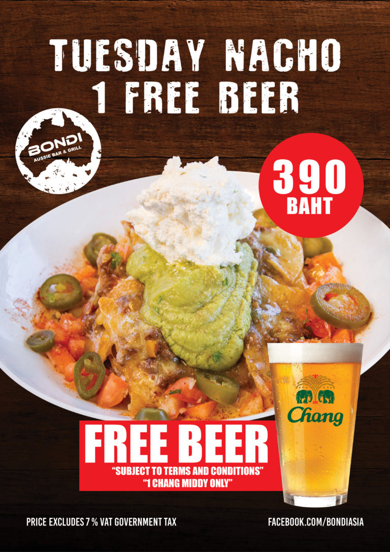2 Tuesday Nacho's restaurant food Phuket Bondi Aussie bar and grill Patong beach Phuket